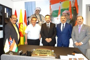 منظمة الحركة في النرويج تلتقي محلية حزب الديمقراطي الكردستاني في اوسلو.